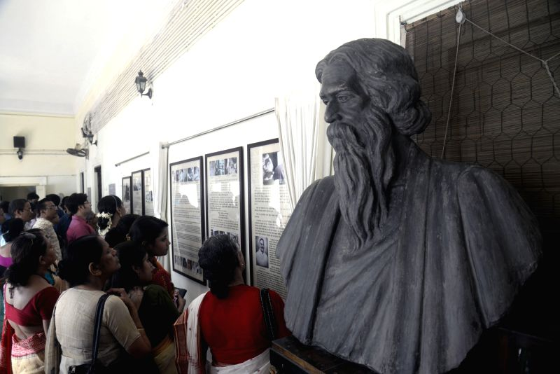 Rabindra Jayanti celebrations at Jorasanko Thakur Bari in Kolkata, on May 8, 2017.