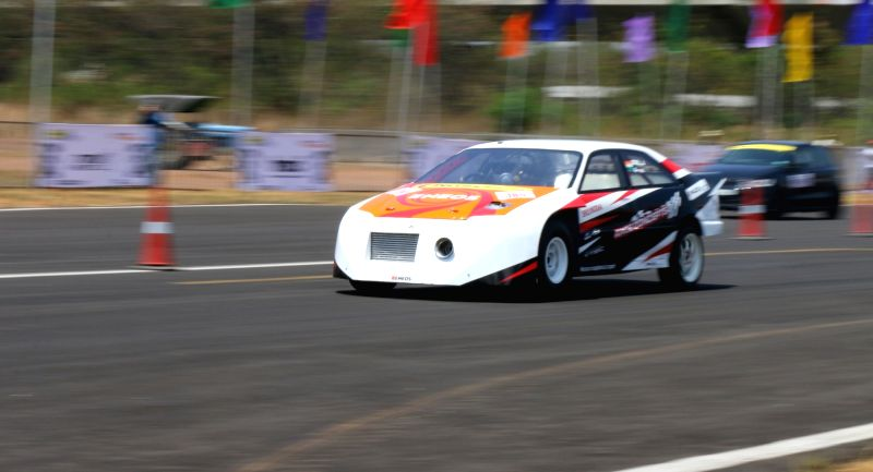 "Race drivers participate in ""Vroom 2016"" at Jakkur Aerodrome, in Bengaluru on April 30, 2017."