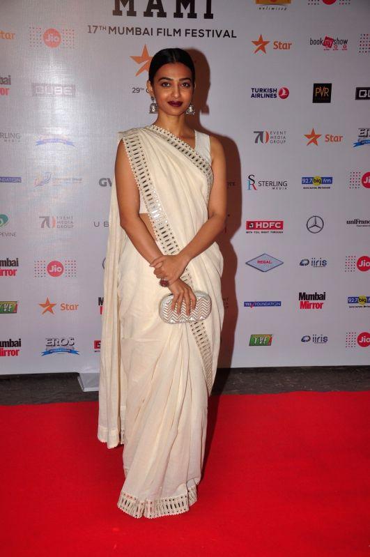 Radhika Apte during Jio MAMI 17th Mumbai Film Festival Opening Ceremony in Mumbai on Oct 30, 2015.