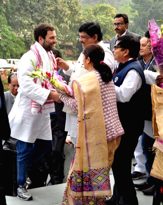 Rahul Gandhi during his visit to Guwahati on Dec 11, 2015.