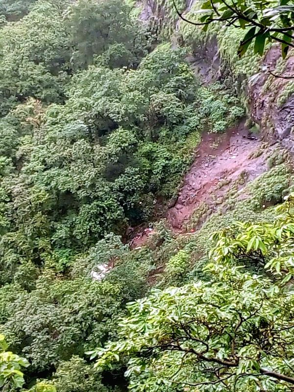 :Raigad: The deep ravine near Poladpur, around 175 km from Mumbai, where a private bus on a picnic trip plunged into, killing at least 32 university staffers, in Maharashtra's Raigad on July ...