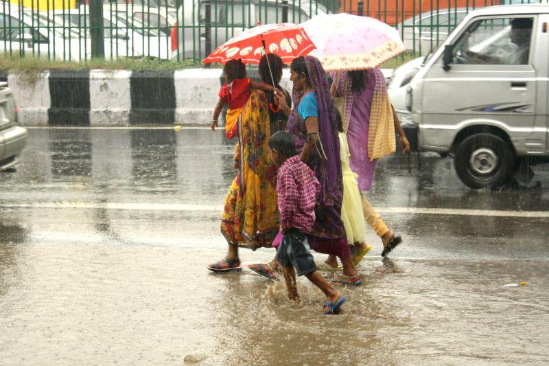 Rain in capital on Aug. 30, 2014.