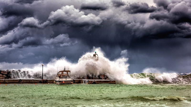 Rain storms, Warming ocean, ocean rain storms