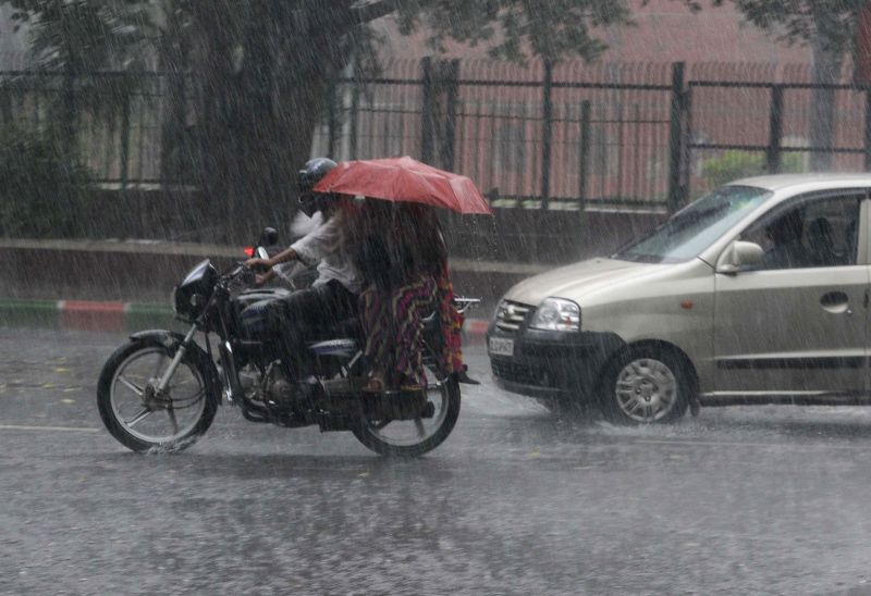 Rainy Friday morning in Delhi