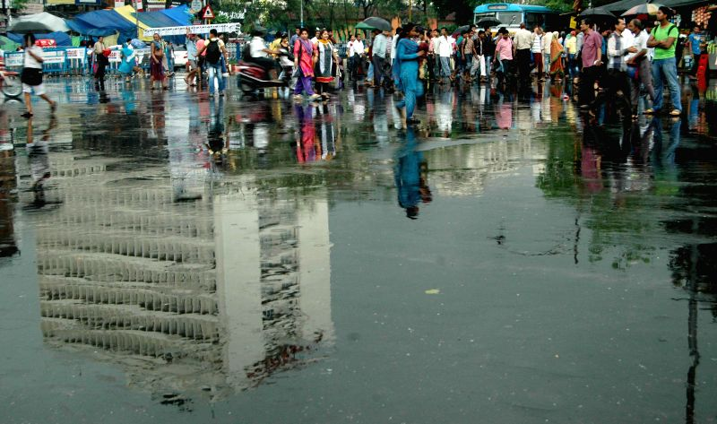 Rains in Kolkata on July 3, 2014.