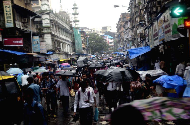 Rains in Mumbai on July 31, 2014.