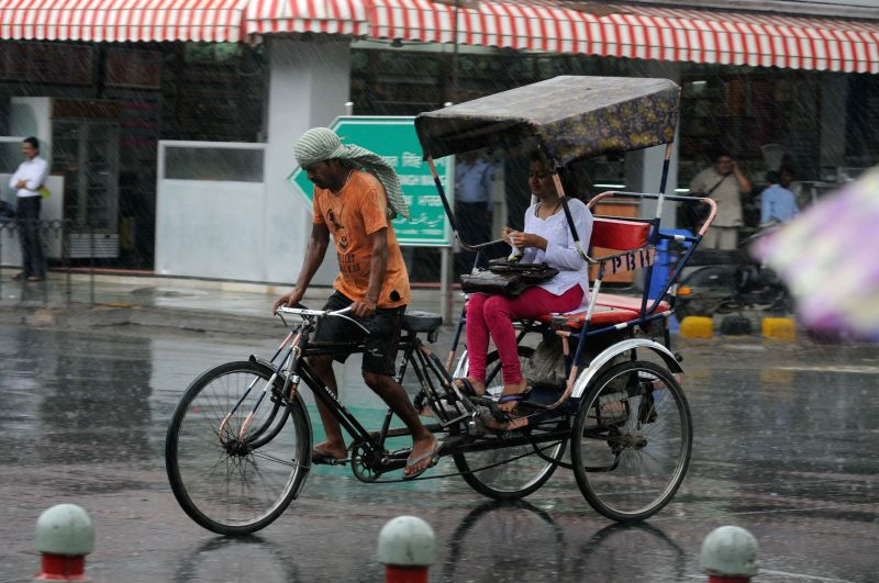 Rains in New Delhi on July 3, 2014.
