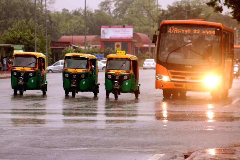 Rains in New Delhi on May 23, 2016.