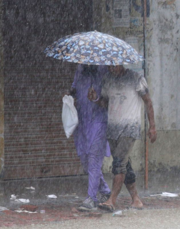 Rains lash Amritsar on July 27, 2016.