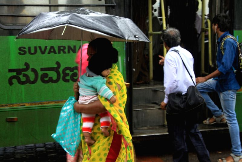 Rains lash Bengaluru on Dec 1, 2017.