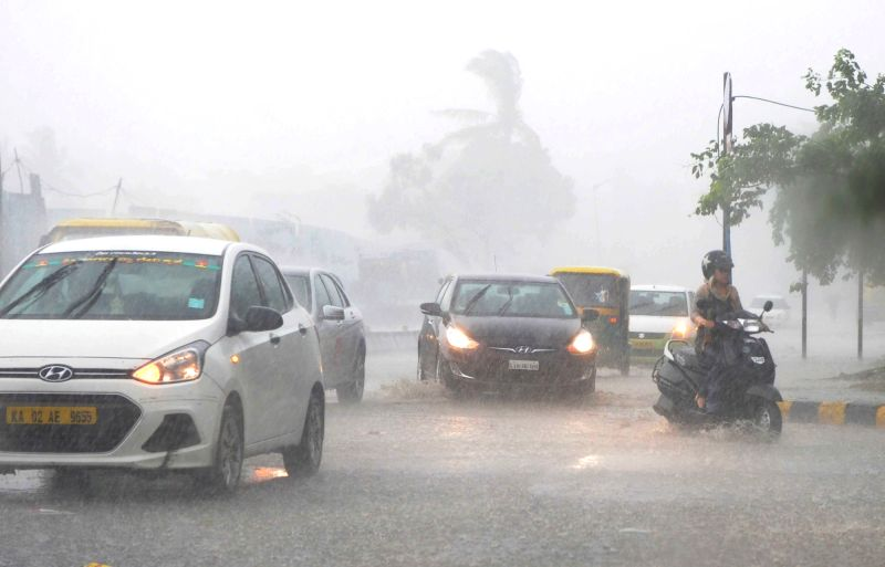 Rains lash Bengaluru on May 14, 2017.