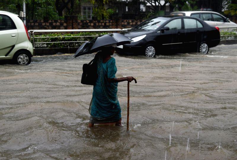 Rains lash Chennai on Dec 1, 2015.