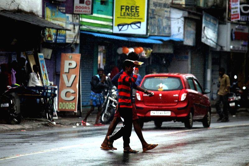 Rains lash Chennai on Nov 13, 2017.