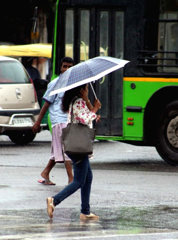 Rains lash Delhi on Aug. 6, 2016. (Photo: IANS