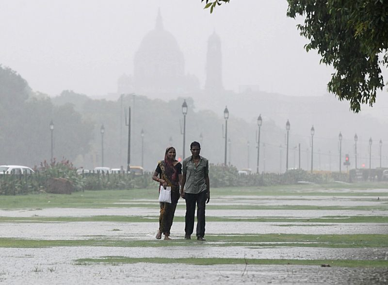 Rains lash Delhi on July 21, 2018.