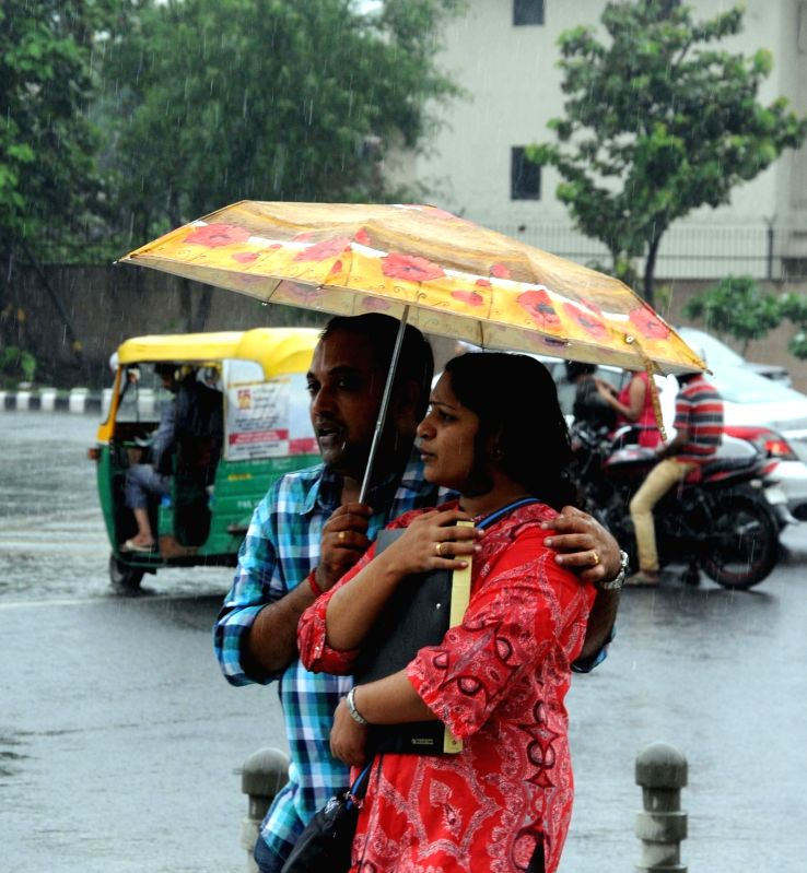 Rains lash Delhi on July 26, 2016.