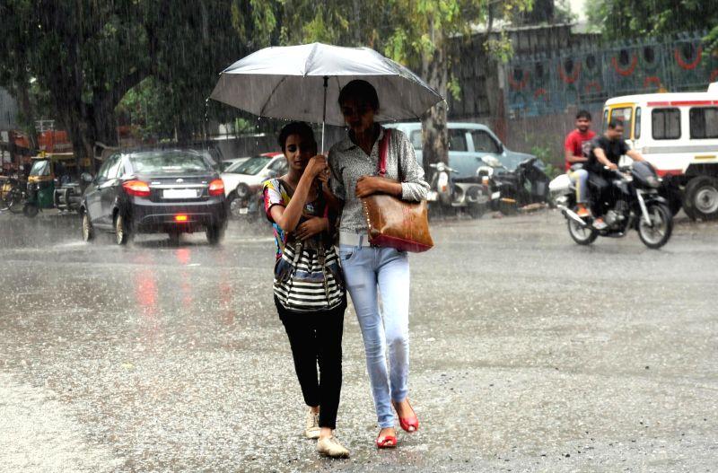 Rains lash Delhi on July 27, 2016.