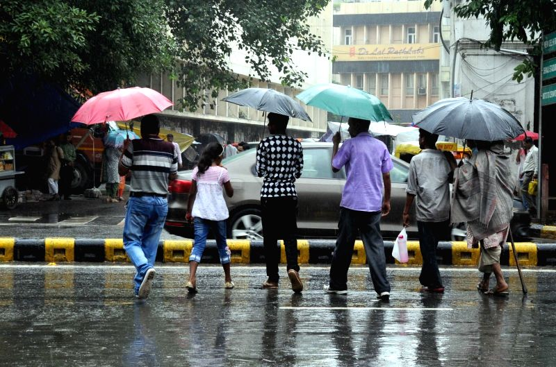 Rains lash Delhi on July 29, 2016.