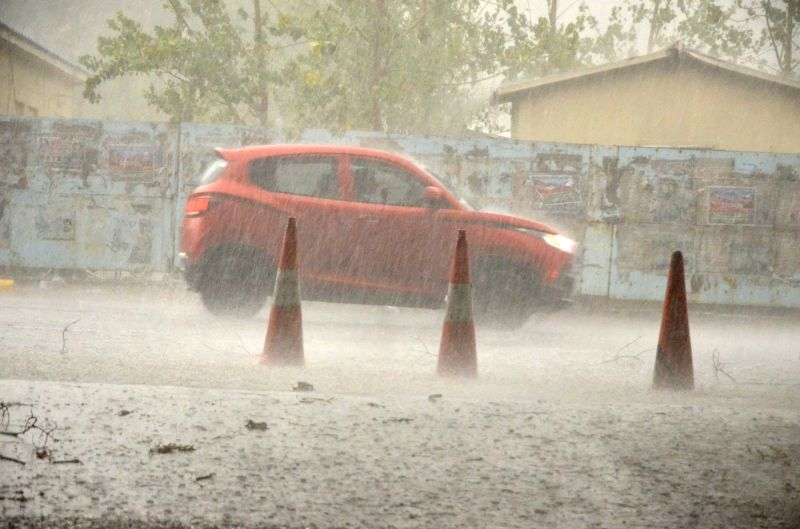 Rains lash Delhi on May 21, 2017.