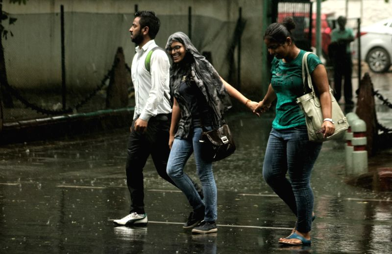 Rains lash Delhi on May 31, 2017.