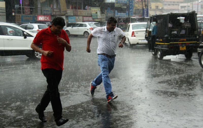 Rains lash Gurugram on June 10, 2017.