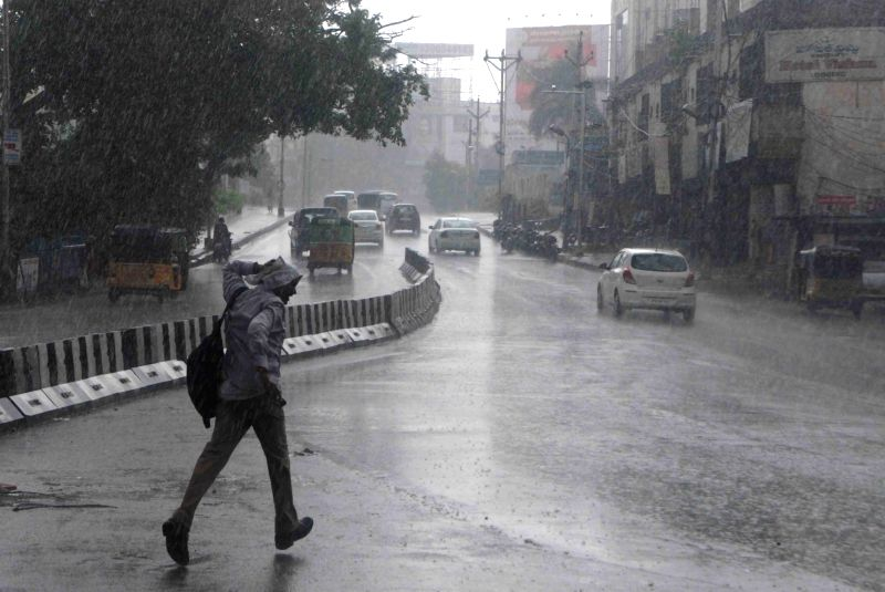 Rains lash Hyderabad on Aug 11, 2017.