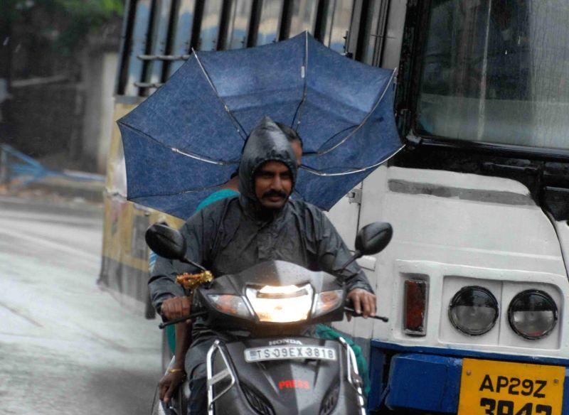 Rains lash Hyderabad on Aug 11, 2018.
