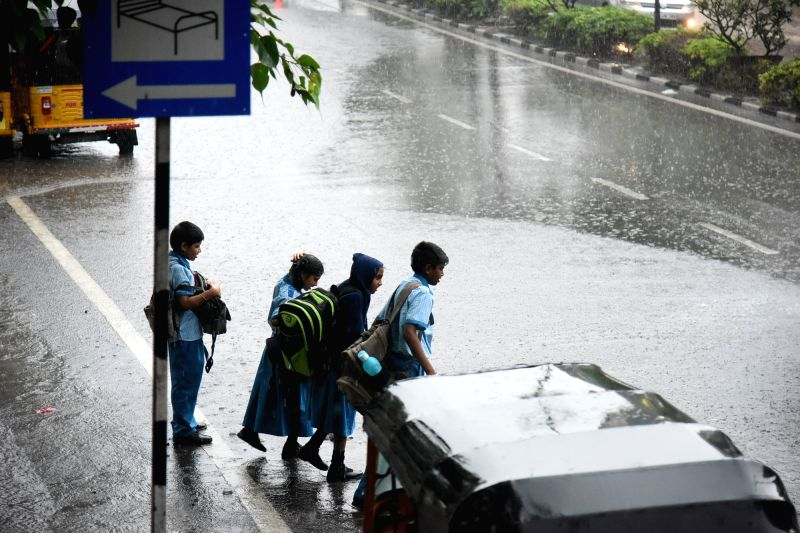 Rains lash Hyderabad on July 26, 2016.