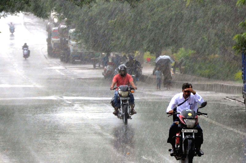 Rains lash Hyderabad on June 9, 2017.