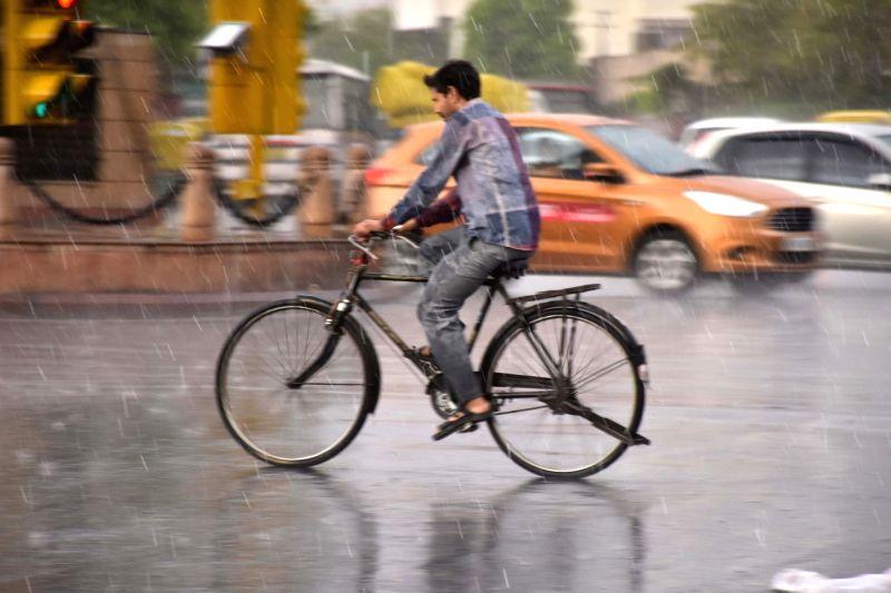 Rains lash Jaipur on May 8, 2017.