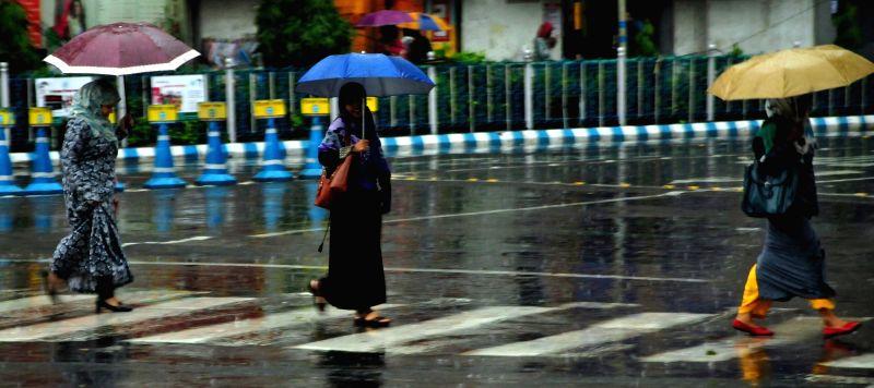 Rains lash Kolkata on June 12, 2018.