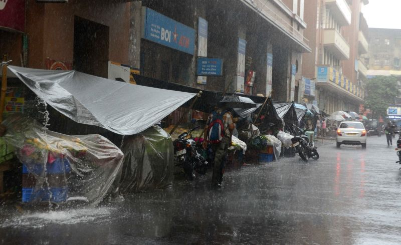 Rains lash Kolkata on June 7, 2017.