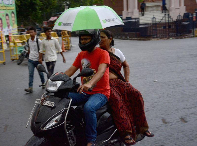 Rains lash Lucknow on May 17, 2017.