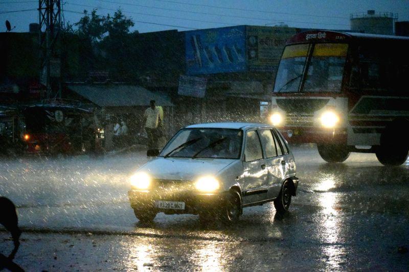 Rains lash Mathura on June 9, 2018.