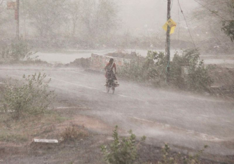 Rains lash Nagpur on June 10, 2018.