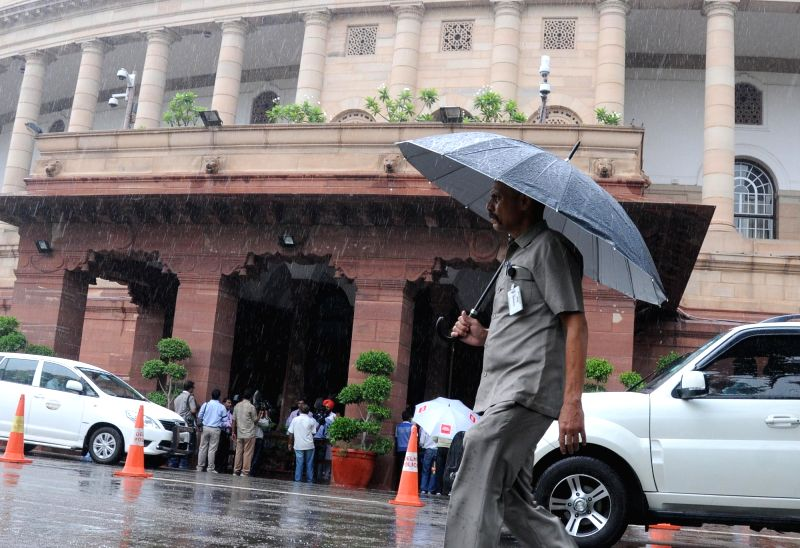 Rains lash New Delhi on July 25, 2016.