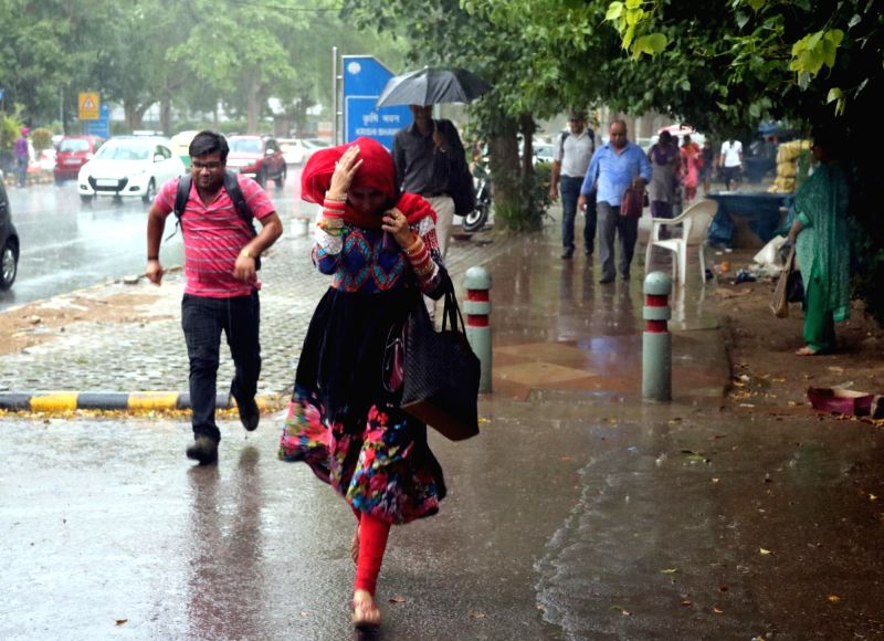 Rains lash New Delhi, on May 23, 2016.