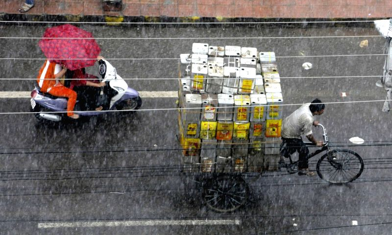 Rains lash Patna on Aug 9, 2016.