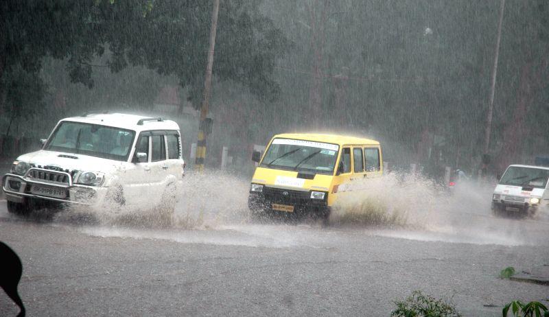 Rains lash Patna on July 28, 2016.