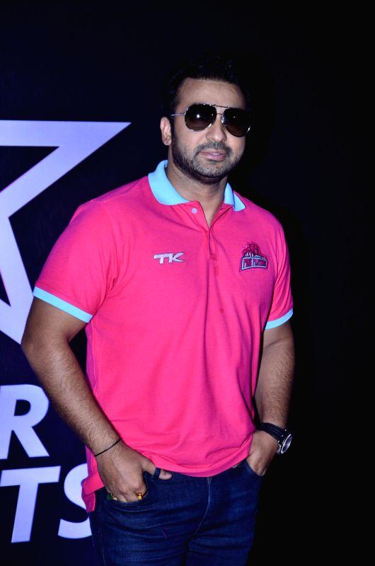 Raj Kundra during the Pro-Kabaddi League between U Mumba vs Jaipur Pink Panthers in Mumbai on 27, July 2014. - Raj Kundra