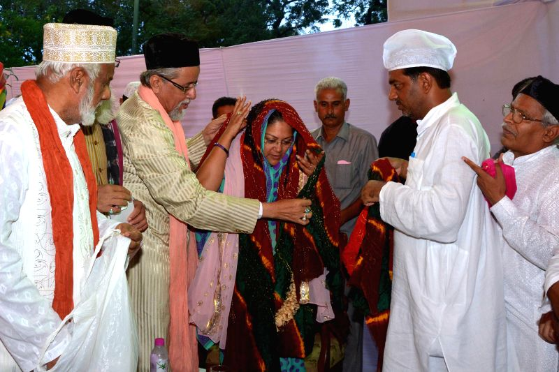 Rajasthan Chief Minister Vasundra Raje hosted a Roza Iftaar party at his official residence Civil Lines in Jaipur on Saturday 26th July 2014.