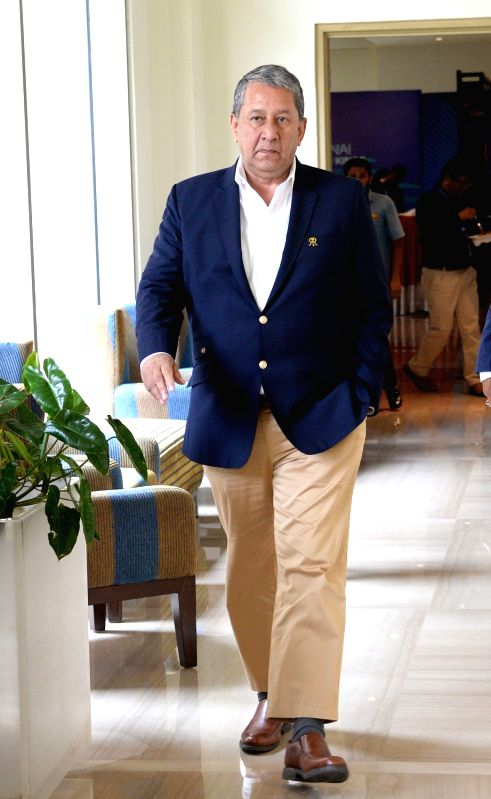 Rajasthan Royals Chairman and CEO Ranjit Barthakur arrives to attend Indian Premier League (IPL) Players' Auction in Bengaluru on Jan 28, 2018.