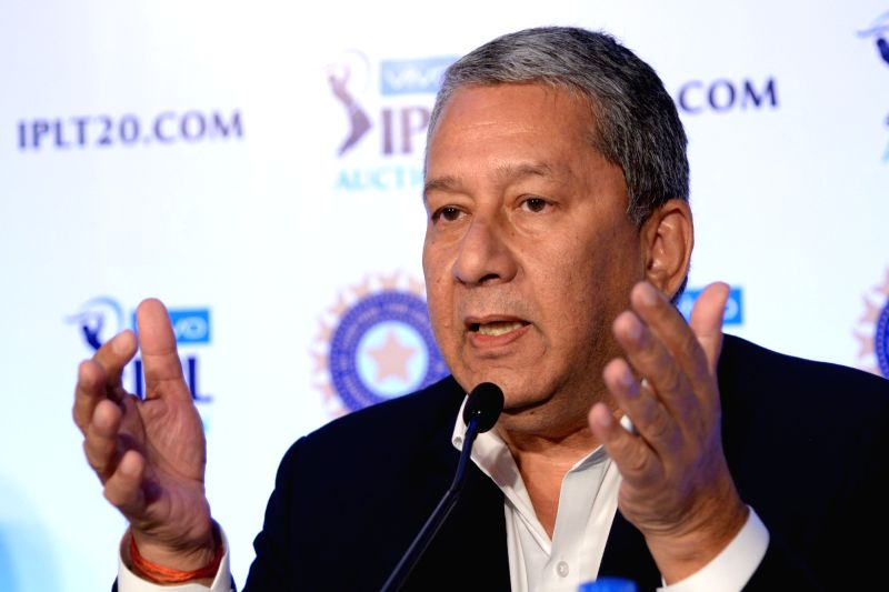Rajasthan Royals Chairman and CEO Ranjit Barthakur addresses a press conference during Indian Premier League (IPL) Players' Auction in Bengaluru on Jan 28, 2018.