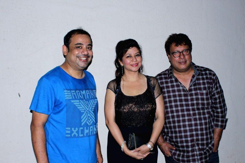 Rajesh Roy, Shetal Gupta and filmmaker Tigmanshu Dhulia during the his Birthday Party in Mumbai on April 11, 2017. - Rajesh Roy and Shetal Gupta