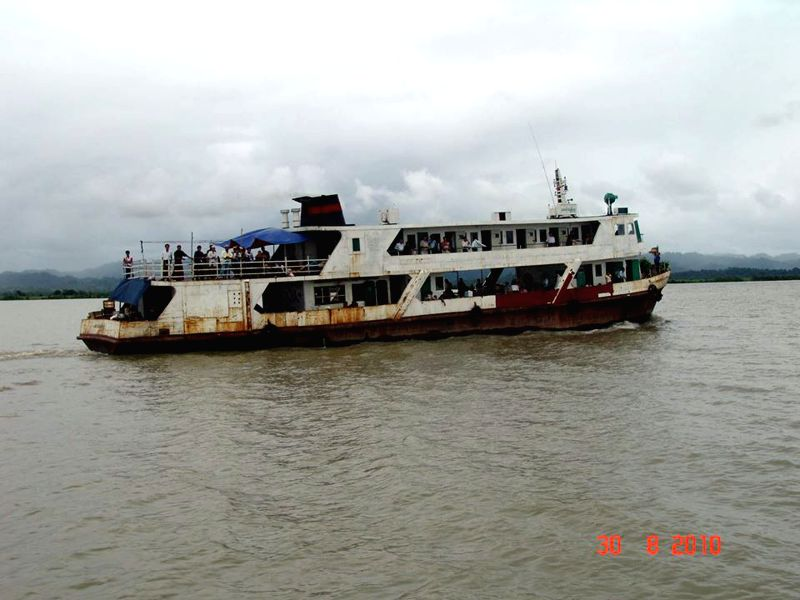 Photo taken on Aug. 30, 2010 shows a government-owned Aung Dakun-4 , a vessel similar to the ill-fated one in Kyaukphyu, Myanmar's western Rakhine State. At least ...