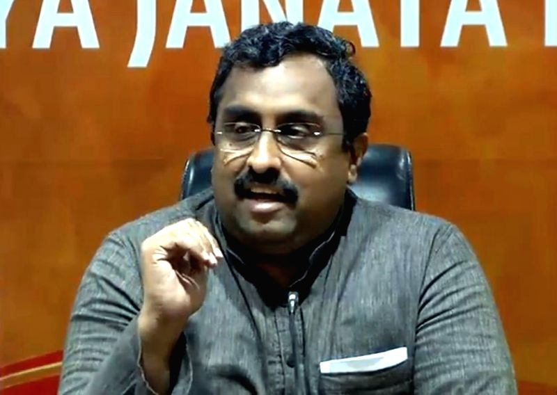Ram Madhav. (File Photo: IANS)