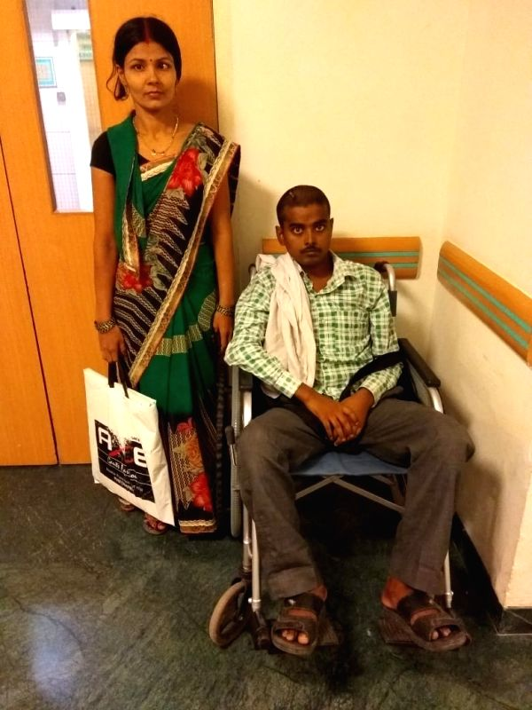 Rambabu with his sister-in-law, Rukmani Devi at Max Hospital.