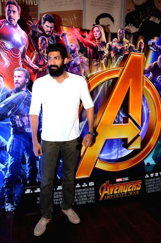 Rana Daggubati at Avengers press meet in Hyderabad.