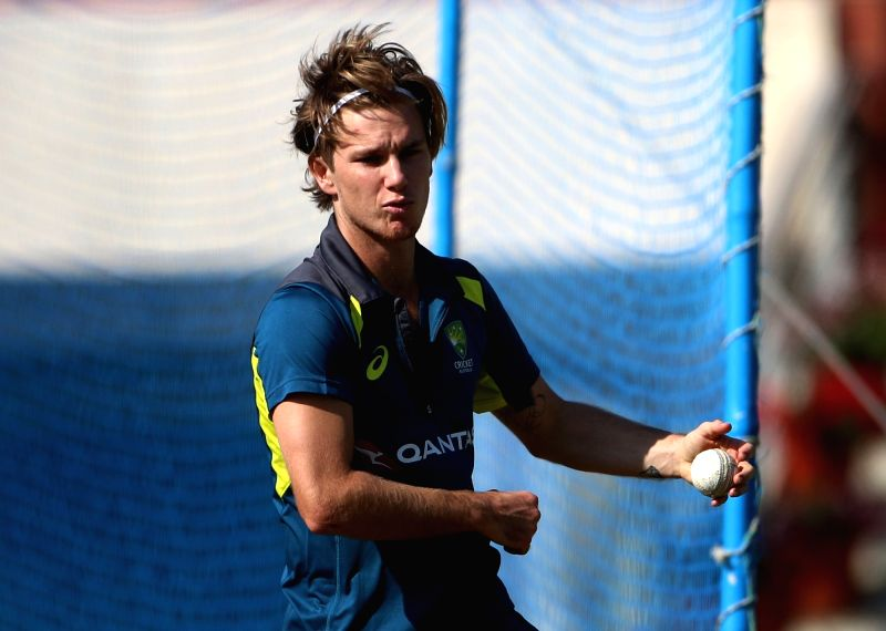 Ranchi: Australia's  Adam Zampa during a practice session ahead of the third ODI match against India, in Ranchi, on March 7, 2019. (Photo: Surjeet Yadav/IANS)