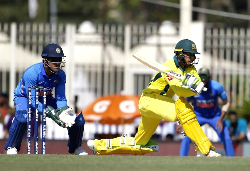 Ranchi: Australia's Usman Khawaja in action during the third ODI match between against India at JSCA International Stadium Complex, in Ranchi, on March 8, 2019. (Photo: Surjeet Yadav/IANS)